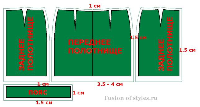 На юбку пойдет 2 метра