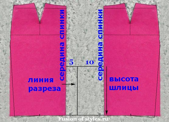 Построение выкройки юбки карандаш