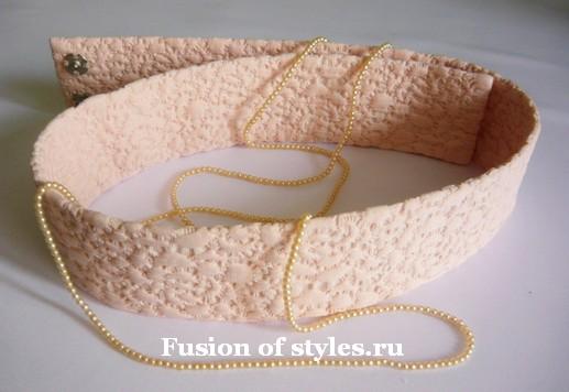 Как сшить широкий пояс из ткани
