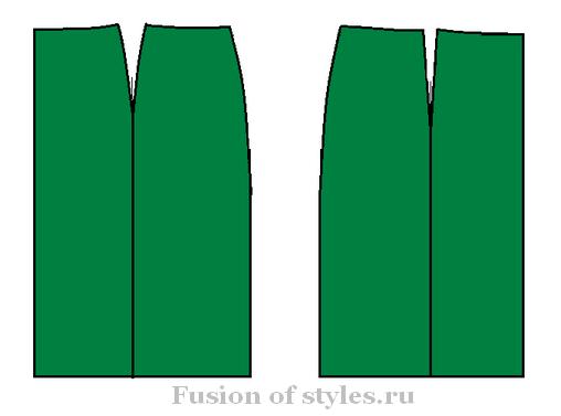 Построение выкройки вытачки юбка фото 632