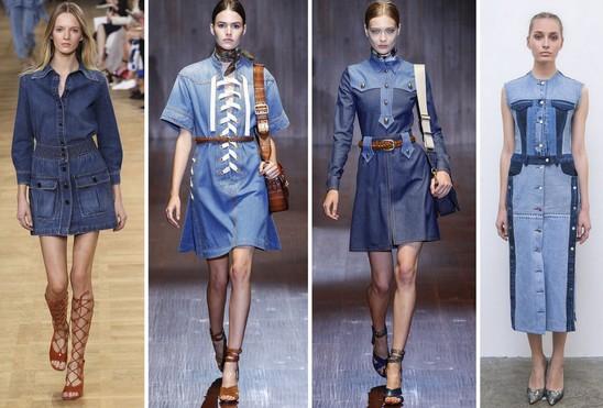 Тренд джинсовое платье