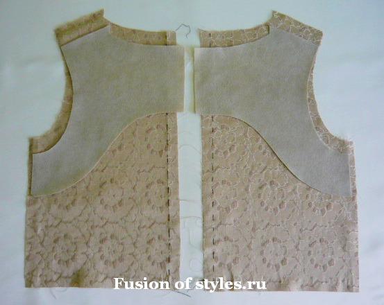 Обработка горловины платья и рукава