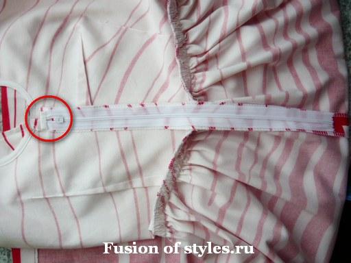 Пошив пышной юбки для платья в стиле нью лук