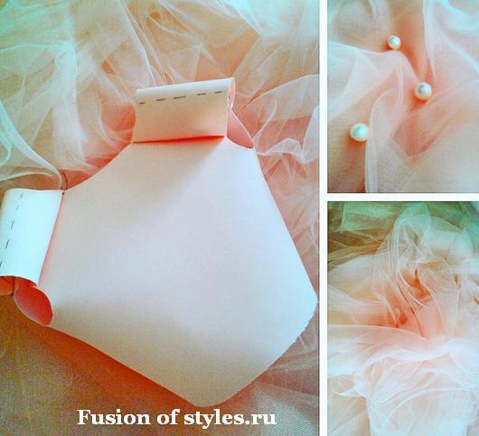 Корсетное бальное платье с кружевной аппликацией для девочки