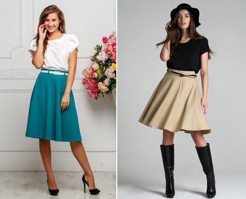 Раскладка юбки полусолнце на ткани