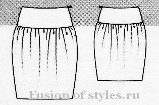 Бурда юбки тюльпан