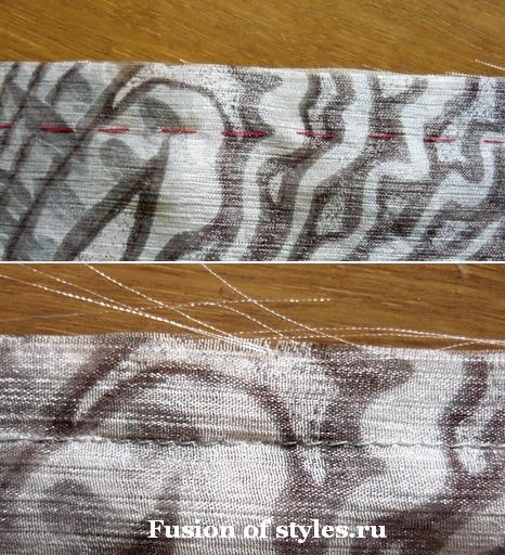 Обработка швов на шифоне