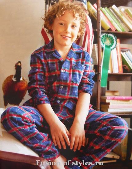 Детская пижама для мальчика из фланели