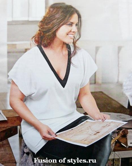 Женская туника большого размера из шёлка