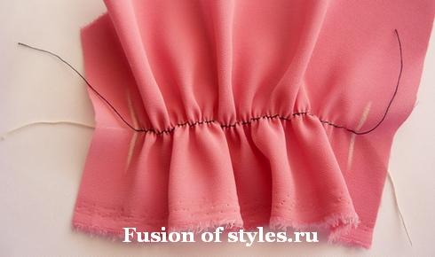 Как выполнить резиновые жилки на ткани