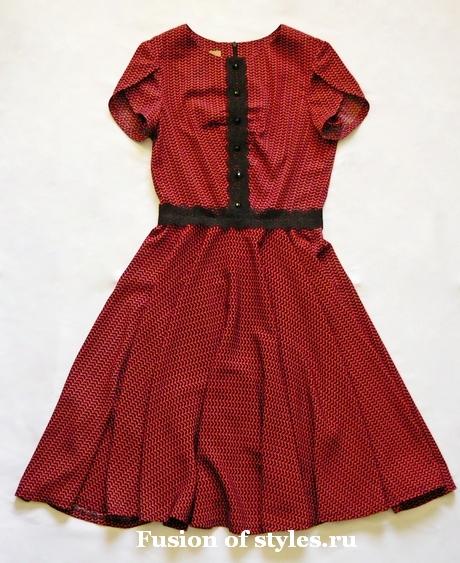 Летнее платье с коротким рукавом лепесток