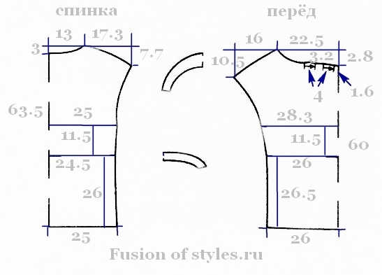 Женская свободная блуза со спущенным плечом