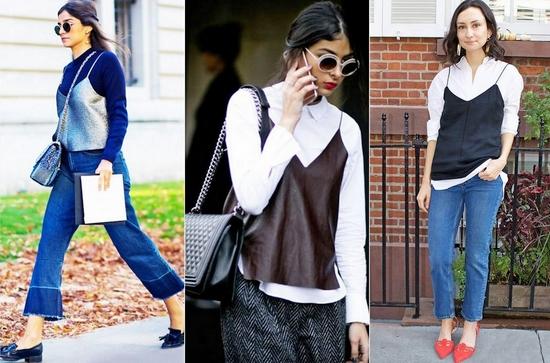 Как носить одежду в бельевом стиле осенью