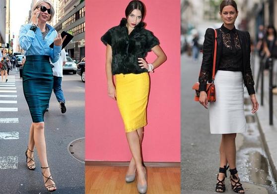 Варианты юбки - карандаш для женского гардероба
