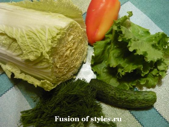 Вегетарианский салат с пророщенным машем