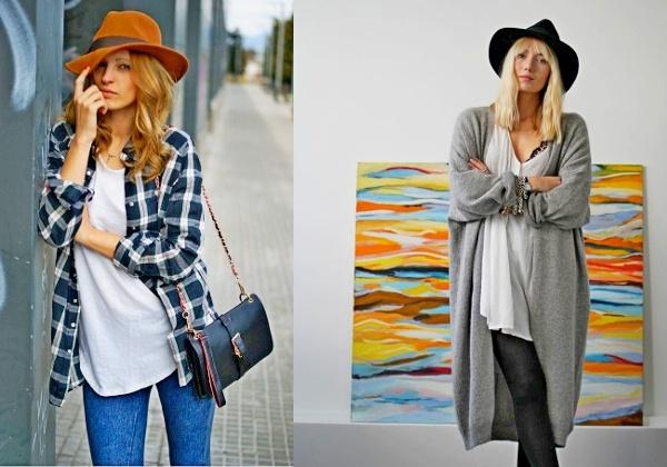 С чем носить женскую шляпу осенью