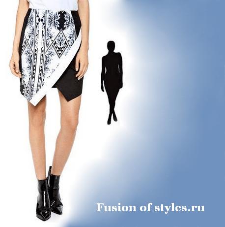 Моделирование ассиметричной юбки с запахом