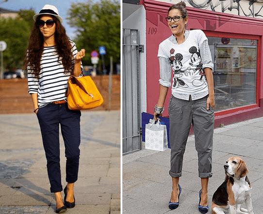 Женские брюки чинос и с чем их носить