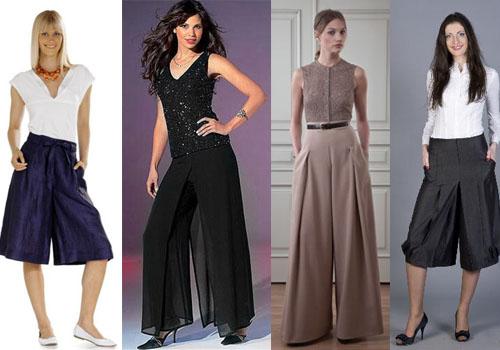 Юбка – брюки, как компромисс между женственностью и комфортом