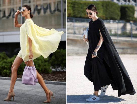 Платье - кейп в современной моде