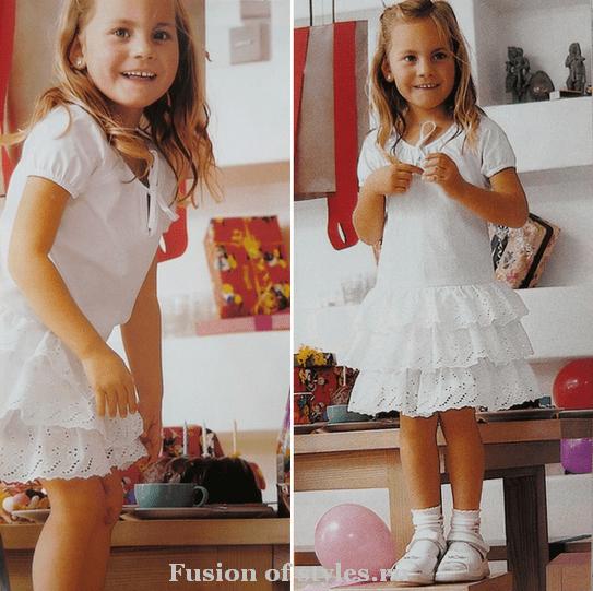 Летнее платье для девочки из поплина