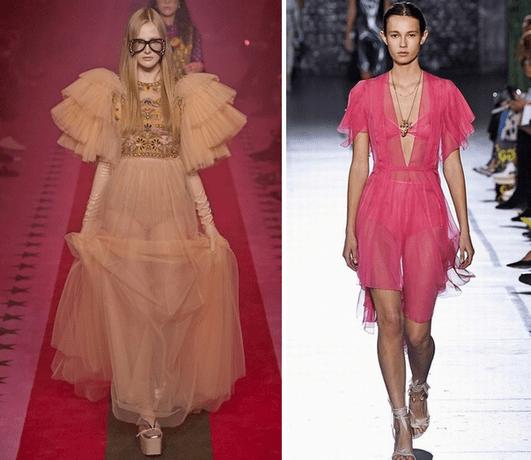 Тренды в одежде 2017 года: прозрачные платья