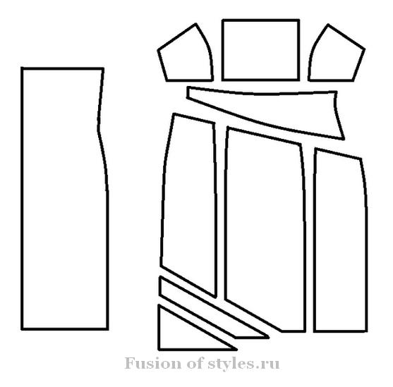 Моделирование выкройки ночной женской сорочки
