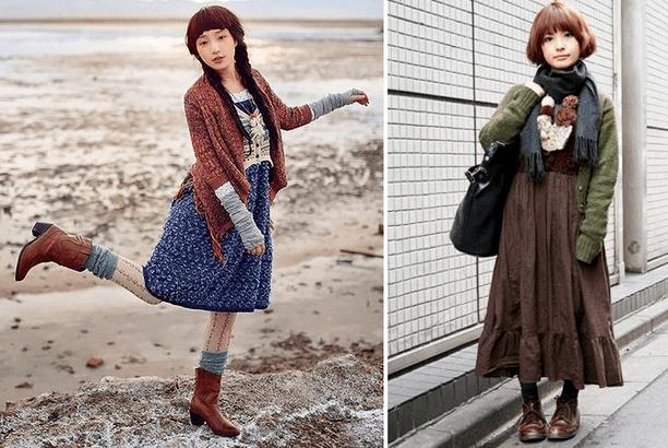 Японский стиль Mori Girl в одежде