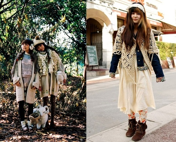 Японский стиль Mori Girl в одежде | СЛИЯНИЕ СТИЛЕЙ  Японский Стиль в Одежде