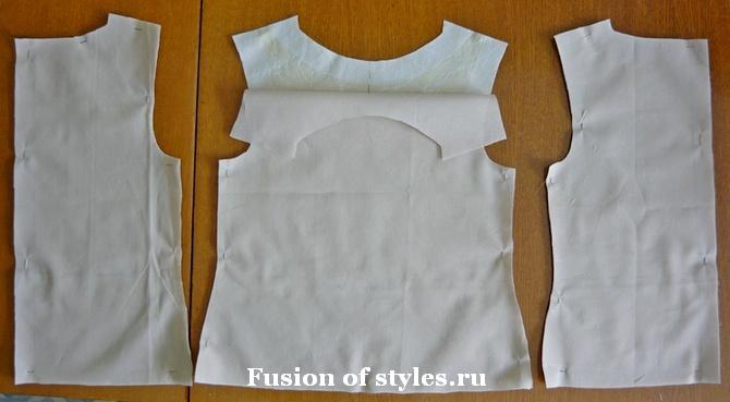 Пошив нарядного платья из жаккарда для девочки
